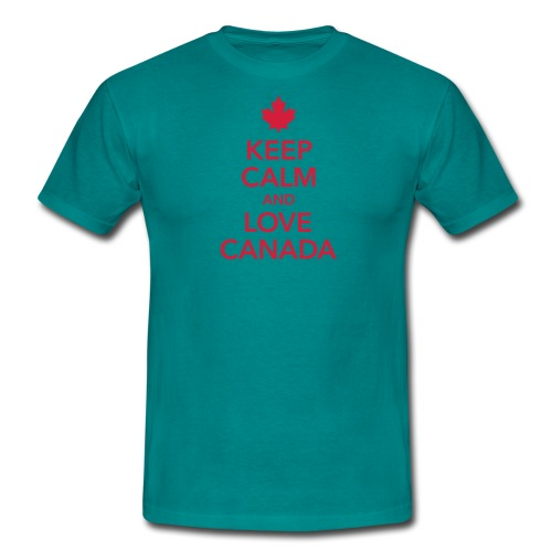 keep calm and love Canada Maple Leaf Kanada - Men's T-Shirt