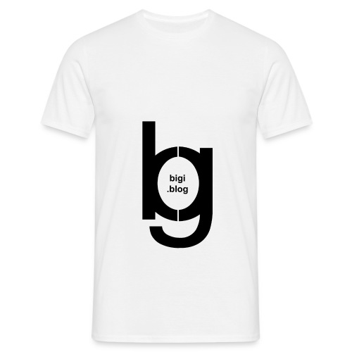 bigi logo black - Männer T-Shirt