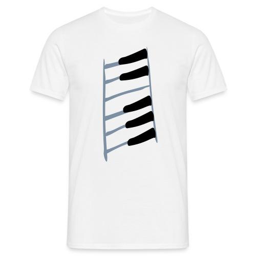 Klavierretter-Tasten - Männer T-Shirt
