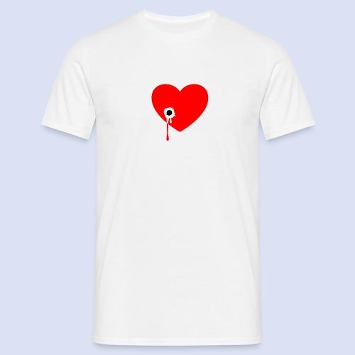 Cœur troué - T-shirt Homme