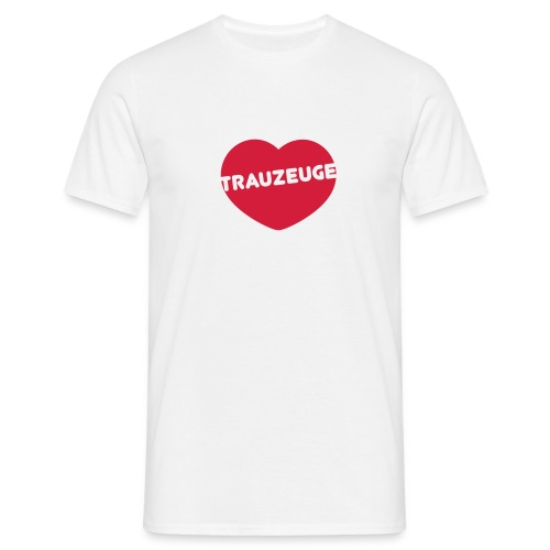 Junggesellenabschied Herz Trauzeuge - Männer T-Shirt
