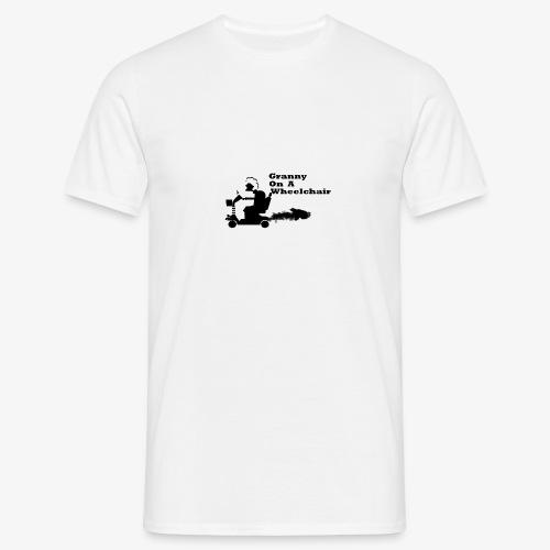 granny on a wheelchair - Men's T-Shirt