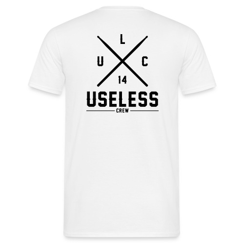 Logo Useless black png - Männer T-Shirt