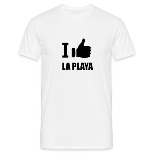 I like LA PLAYA Daumen - Männer T-Shirt
