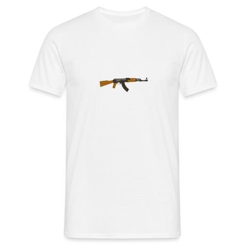 fire-cartoon-gun-bullet-arms-weapon-drawings-png - Mannen T-shirt