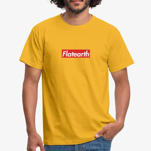 Red Flat Earth Box Logo - Men's T-Shirt