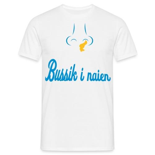 bussik i naien - T-skjorte for menn
