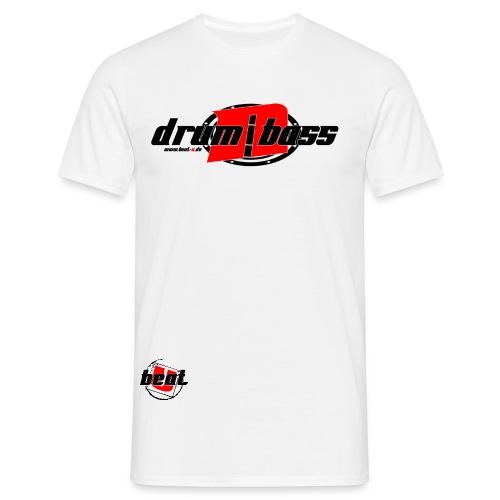 Drum´n Bass Logo Schwarz/Rot - Männer T-Shirt