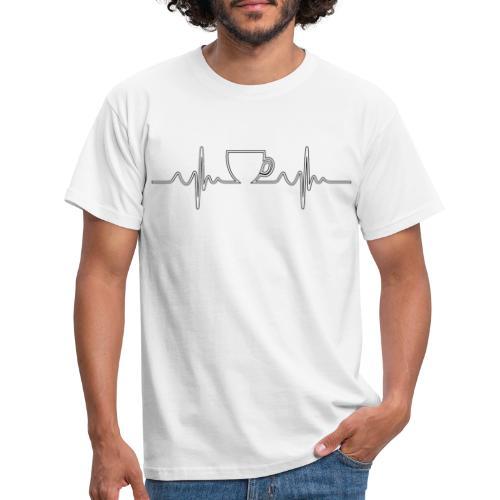 Herzschlag Kaffee Design - Männer T-Shirt