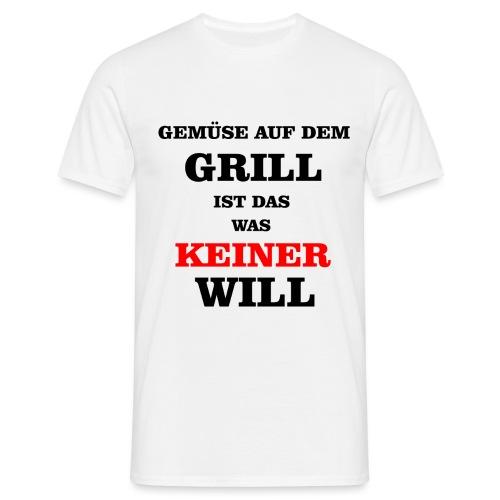Gemüse auf dem Grill - Männer T-Shirt