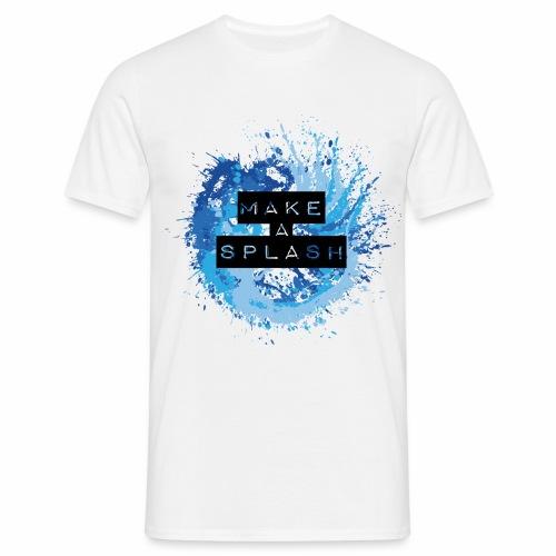 Make a Splash - Aquarell Design in Blau - Männer T-Shirt