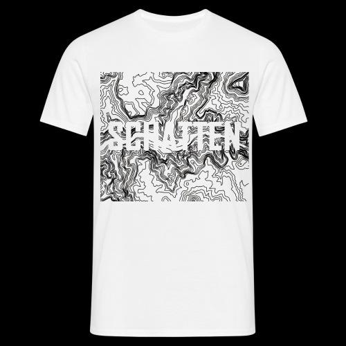 Hoehenlinien schwarz Schatten - Männer T-Shirt