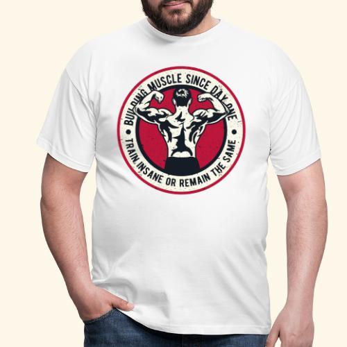 Building-Muscle - Men's T-Shirt