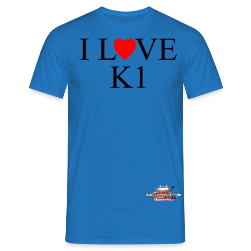 i love k1 nera - Maglietta da uomo