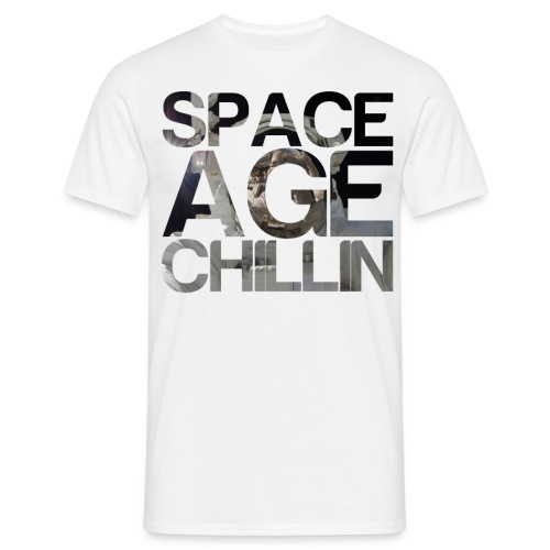 Space Age Chillin png - Men's T-Shirt
