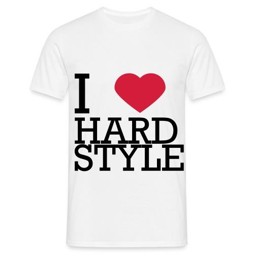 I LOVE HARDSTYLE - Mannen T-shirt