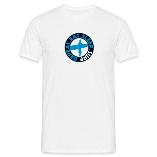 Eat. Sleep. Surf. Repeat. - Männer T-Shirt
