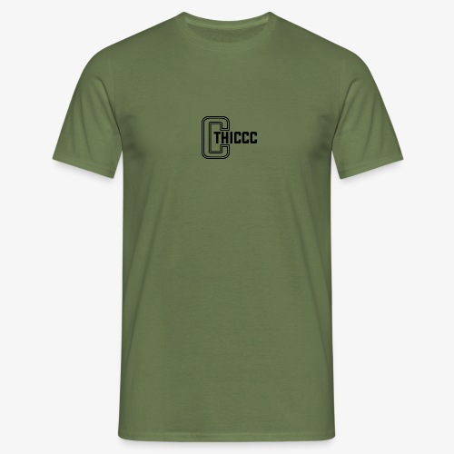 thiccc logo White - Men's T-Shirt