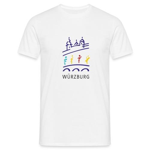 Würzburg Grafik Pixelgrafik - Männer T-Shirt