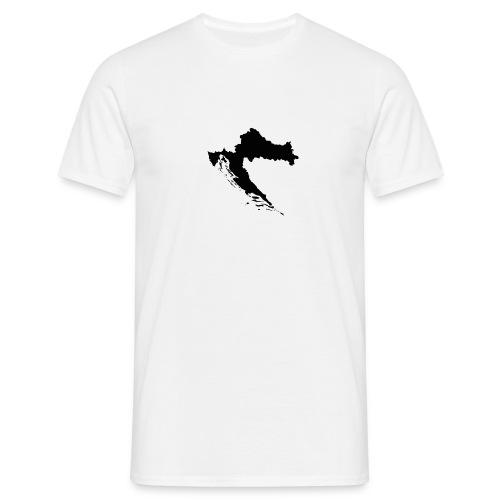 Croatia Map Outline - Männer T-Shirt