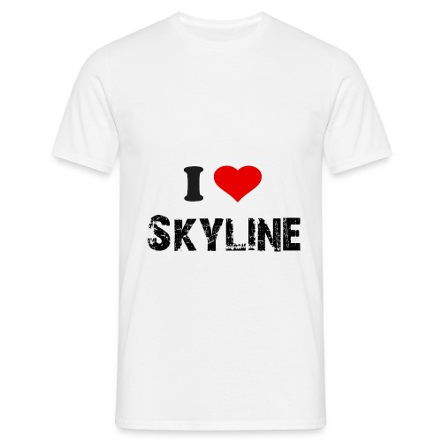 skyline - T-skjorte for menn