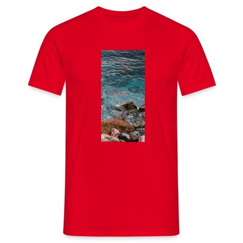 iPhone 4/4s Hard Case mit Wellenmotiv - Männer T-Shirt