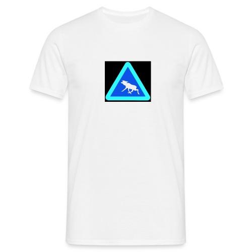 Warnung! Elch! Moose! Älg! Schweden Sweden (pixel) - Männer T-Shirt