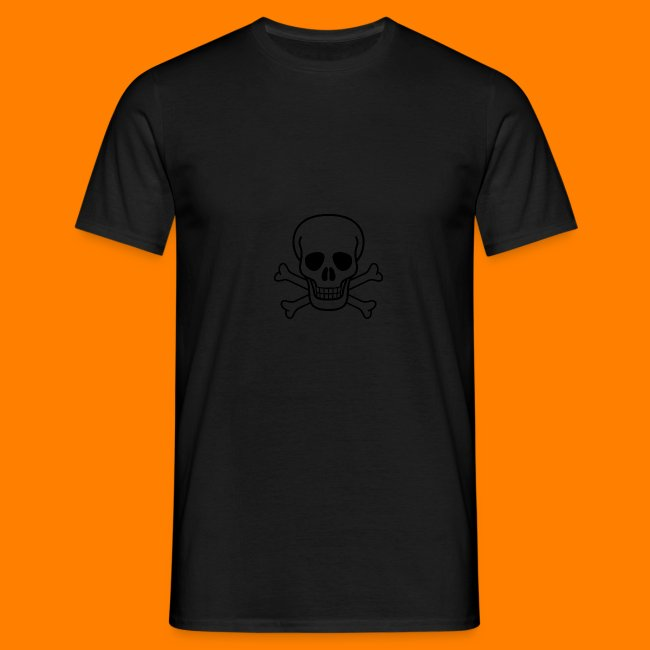 skull and cross bones BLACK