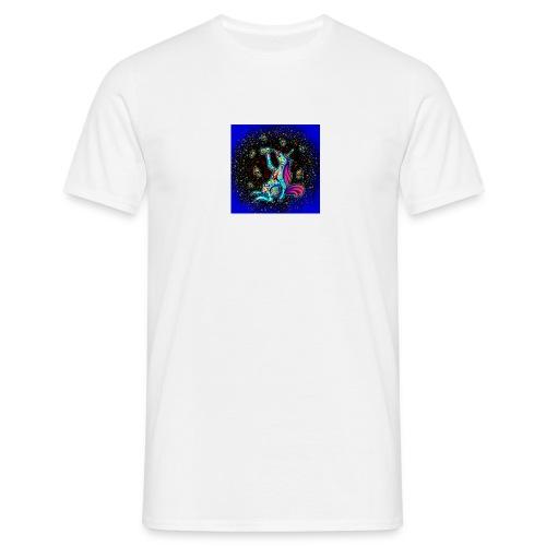 Psykohol mit HIntergrund - Männer T-Shirt