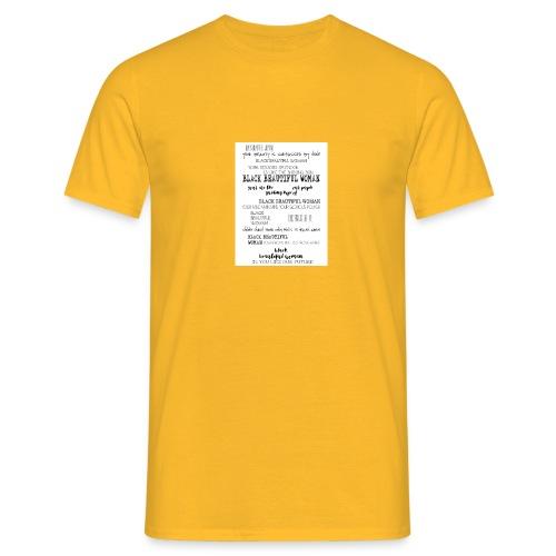 Beautiful Black Woman - Men's T-Shirt