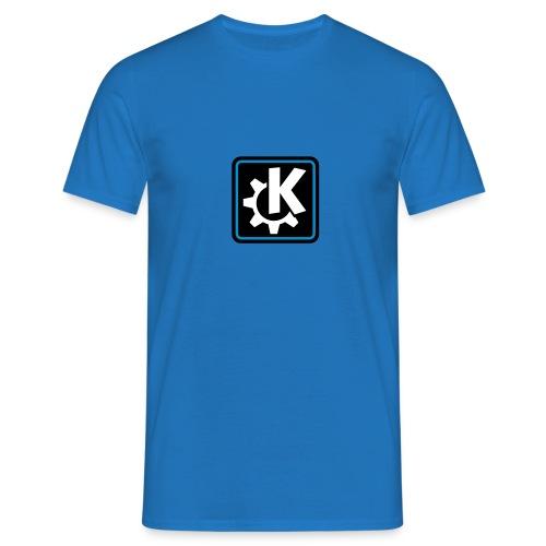 k logo bluish - Men's T-Shirt