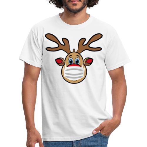Ugly Xmas Rudi Reindeer mit Maske - Männer T-Shirt
