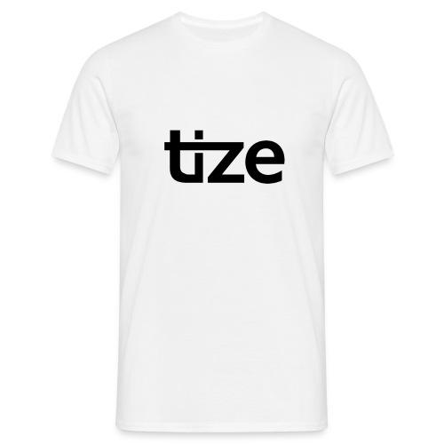 Tize in schwarz. - Männer T-Shirt