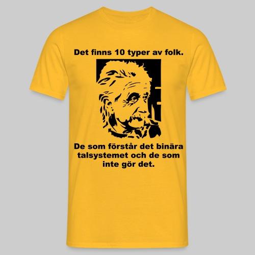 Det finns 10 Typer - T-shirt herr