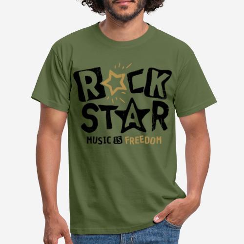 rock star music freedom - Männer T-Shirt