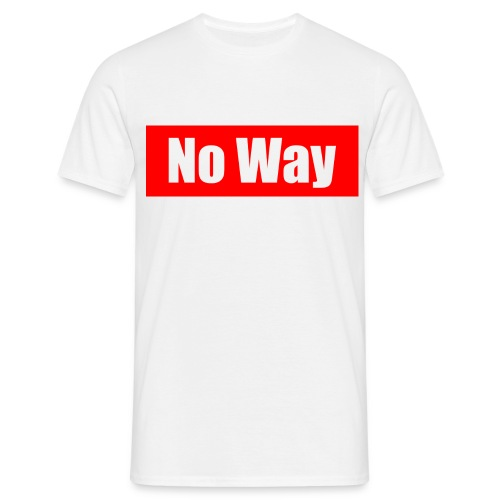 no way logo - T-shirt Homme