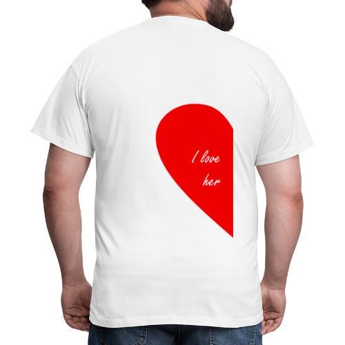 i love her - Camiseta hombre