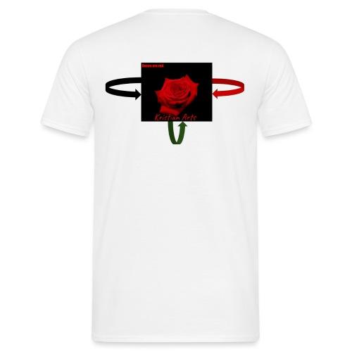 Kristian Arts Roses are red kollektion - Herre-T-shirt