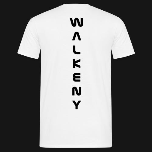 Walkeny Schriftzug vertikal in schwarz - Männer T-Shirt
