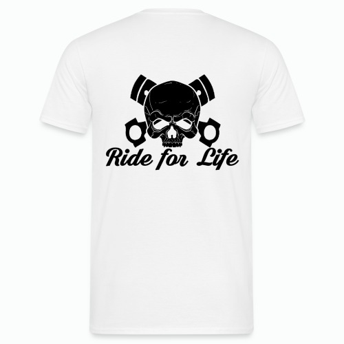 Teschio Ride for Life - Maglietta da uomo