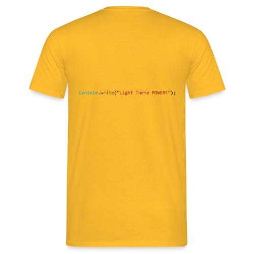 IDE Programming Light Theme C# - Maglietta da uomo