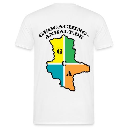 Logo bunt mit URL - Männer T-Shirt
