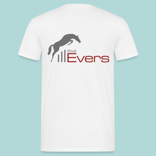 evers-logo-mit-pferd-farb - Männer T-Shirt
