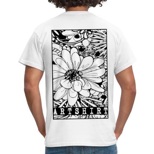 bloem motief artshirt - Mannen T-shirt