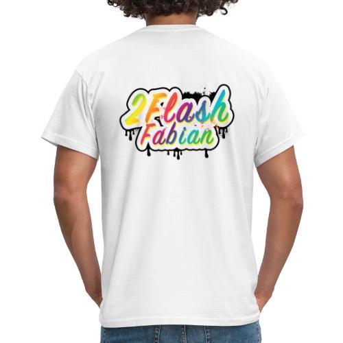 2Flash Fabian Backprint weiß - Männer T-Shirt