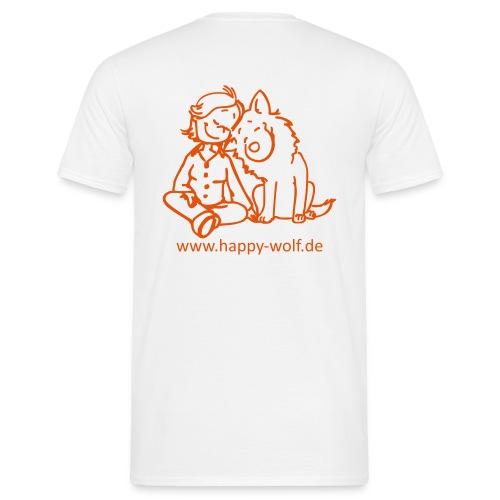 happywolforangetransparent - Männer T-Shirt