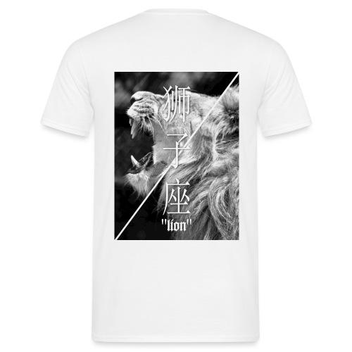 Kalasho Löwen Print T-Shirt - Männer T-Shirt