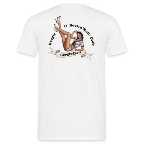logo fuer hemden mit schwarzer schrift - Männer T-Shirt