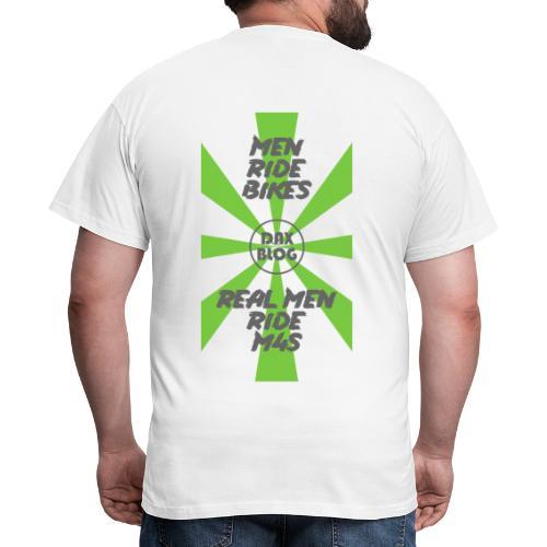 Men Ride Bikes, Real Men Ride M4S - Green - Men's T-Shirt
