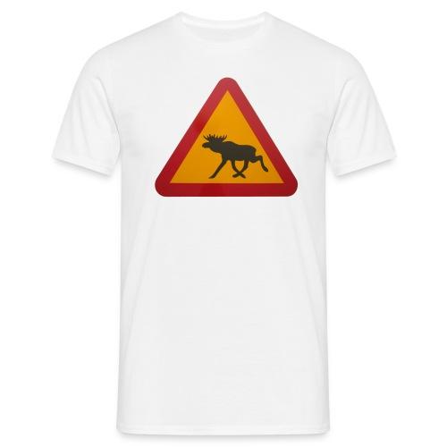 Warnschild Elch - Männer T-Shirt